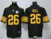 Wholesale Bell New Hot Men Steelers Black Color Rush Legend Limited Stitched Football Jerseys Free Drop Shipping Minging1225