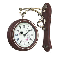 antique clock faces - Antique Style Double Sided Interior Wall Clock Double Faced Vintage Home Decor