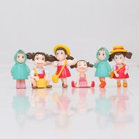2-3cm Anime japonais Mon voisin Totoro Hayao Miyazaki Film Mini Mei May PVC Modèle d'action Toys Doll Gifts for Kids 6Pcs / set