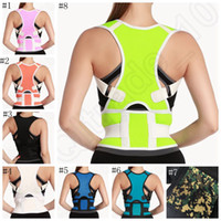Cheap Adjustable Back Brace Posture Corrector Neoprene Back Shoulder Corrector Support Brace Belt Body Stretch 8 colors 100pcs OOA923