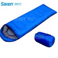 Wholesale Outdoor camping summer camping sleeping bag lunch g envelope hooded sleeping bag manufacturers build