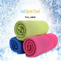 Wholesale 2017 cm Fashion Sports Cool towel Summer cooling towels dual layer sports outdoor ice cold scaft scarves Pad quick dry coolcore towels