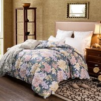 Wholesale Hot Sale Floral Printed Quilts Sets Thermal Winter Blankets Bedspreads Warm Comfortable Comforters JQ0056