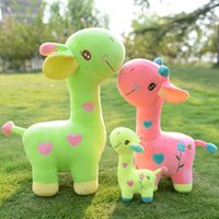 Wholesale Giraffe hold pillow doll female doll plush toys children birthday gift wedding doll gifts