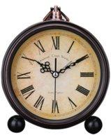 Wholesale New Arrival Real Pvc Despertador Electronic Desk Clock Retro European Garden Alarm Mute Clock Simple Lazy Student Bedside