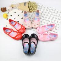 achat en gros de boutons de mode chine-2017 Chine Wholesale Style de mode pas cher enfants fille Sandale Jelly Chaussures Summer Fashion Kids jelly Sandales avec bouton