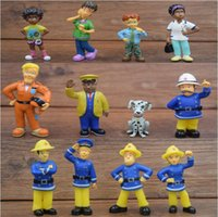 Wholesale 12 Set Fireman Sam action figure toys cm Cute Cartoon PVC Dolls For Kids Christmas Gift