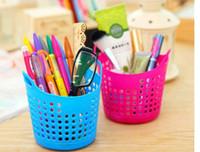 Wholesale 2PCS Creative home portable mini desktop use plastic receive basket sundry receive basket household storage basket