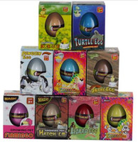 al por mayor cristales de variedades-Una variedad de animales huevos de Hatchimals Creciendo Pet en agua Regalos de Navidad Cristal Suelo Dinosaurio Hatching huevo para niños Educación juguetes