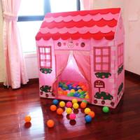 Wholesale Fun Tent for Kids Plastic Playhouse Girl City House Kids Secret Garden Pink Play Tent Pink