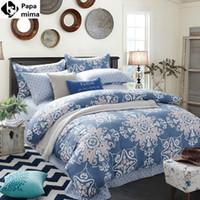 Wholesale Grey Bohemia style bedding set for queen size duvet cover set bed linen sheet cotton quilt pillowcase bedsheet cotton