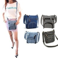 Sacs messenger denim pour femmes Prix-Wholesale-Cowboy Casual Denim Sacs Messenger pour femme Sac à main Cross Body Shoulder Bag HB88