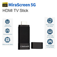 achat en gros de transmission de définition-Original MiraScreen 5G TV Stick Dongle 5G DLNA Airplay HDMI Miracast Air Mirroring Transmission haute vitesse WiFi Récepteur sans fil + B
