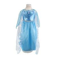 Venta al por mayor niños niños niñas verano otoño vestido de nieve princesa princesa Elsa vestidos congelados vestido de cumpleaños regalo de cumpleaños 1701009