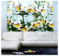 Wholesale BLACKOUT THERMAL WINDOW TRUMPET FLOWERS PATTERNED ROLLER BLIND SHADE BLOCK SUN120 W x H DROP