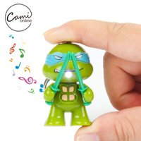 Wholesale New TMNT Teenage Mutant Ninja Turtles Toys LED Light With Sound Action Figures Toy Children Kids Gifts Cute Keychains Pendant