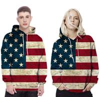 american flag standards - Top quality cotton Mens Hoodie Sweatshirt American Flag Printing Suit Men Hoody Tracksuit Male Clothing Hip Hop Casual Hoodies