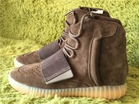 Wholesale Christmas Boost Triple Black Kanye West Leather Suede With Original Box Running Sneaker Men Shoes size