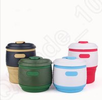 Wholesale Collapsible Foldable Coffee Cup Silicone Tea Mug ml Camping Portable Handy Travel Fruit Juice Drink Cups OOA969