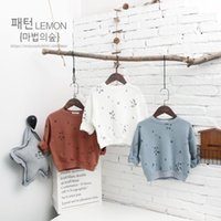 Wholesale Spring New Kids Clothing Unisex Boys Girls Cotton Sweatshirts Triangle Printing Pullover T shirts Printed Long Sleeve Tees Tops
