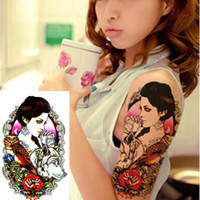 Wholesale Beauty Wolf Print Temporary Tatto Sexy Men Women Waterproof Tattoo Sticker Fake Tattoo Arm Sleeve Body Tattoo Shoulder Tattoos