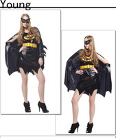 batman catwoman costumes - Hot Sale Polyester F Size Catsuit Sexy Black Catwoman Costume Halloween Women Batman Cosplay Costume Easter Clothing Party Dress