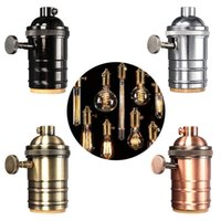 aluminum fittings - Vintage Edison Lamp Socket E27 Screw Bulb Base Aluminum Lamp Holder Industrial Retro Pendant Fittings Lustre Lampholders Fixture