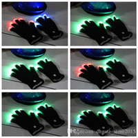 Wholesale Flash Color changing LED Gloves Rave light led finger light gloves light up glove For Party favor music concert