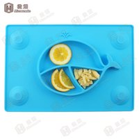 baby food trays - Microsmoke newest design sucker baby silicone food tray BPA free with FDA LFGB stabdard baby food bowl
