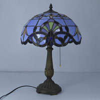 Wholesale 12 Inch Tiffany Table Lamp Stained Glass European Baroque Classic for Living Room E27 V