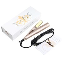 Wholesale With Logo TYME Gold Titanium Plates Fast Hair Straightening Ceramic Hair Curler Curling hair styler tools DHL Fast Shoipping
