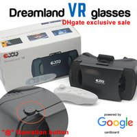 Wholesale Ejoy dreamland D VR glasses Virtual Reality glasses VR Box with button Panoramic Movies Games compatiable Android IOS quot quot Smartphone