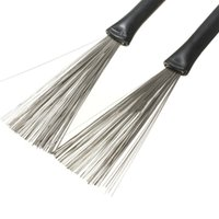 Wholesale New Arrival High Quality Pair Rubber Handle Metal Wire Drum Retractable Brushes Sticks