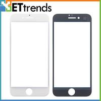 Compra Iphone vidrio de alta calidad-Vidrio externo de la alta calidad para la pantalla de cristal delantera de cristal de la lente del tacto del iPhone 7 de la pantalla blanca / negra Envío libre de DHL