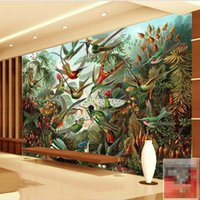 asian style bedroom - D Stereo Southeast Asian Style Retro Hand Painted Tropical Rainforest Banana Leaf Restaurant Sofa TV Wallpaper Mural