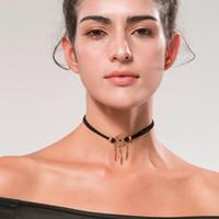 Fashion Black Velvet Choker Collier en alliage de cuivre Pendentif Pendentif Collier Gothic Retro Style Bijoux créatifs créatifs originaux