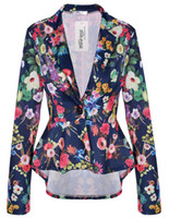 Wholesale new women s blasting a small suit and a slim short before and after the cultivation of irregular small suits