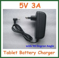Wholesale EU US Plug Wall Home Charger V A Jack mm x0 mm for Tablet PC Power Adapter Supply with Degree Angle Real A