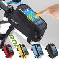 bicycle tube bag - NaturalHome Brand Roswheel Bicycle Front Bag Mountain Bike Accessories Bicycle Pannier Sports Bike Phone MTB Cycling Bag