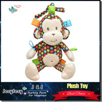 bell monkey - Sozzy Plush Baby Toy Lovely Infant Appease Dolls Soft Baby Rattle Toys Cute Monkey Shape Pull Bell
