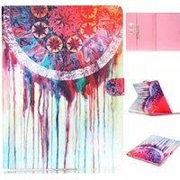 Wholesale Watercolor Dream Catcher Pattern Leather Flip Stand Folio Card Holder Pouch Cover Case For Apple iPad Pro quot Tablet
