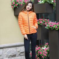 Hooded women's down coats - Women s fashion down coat down jacket Fashion thin section Pure duck down