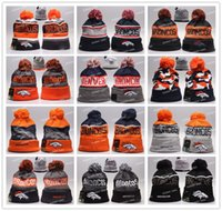 Cheap Wholesale Broncos Beanies Winter High Quality Beanie For Men Denver American Football Women Skull Caps On Field Skullies Knit Caps