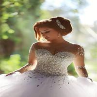 al por mayor traje de quinceañera organza-Vestido de Quinceanera de Cristal de Esmeralda Vestidos de 15 Anos Vestidos de Quinceanera de Cristal Elegante Vestido de manga larga