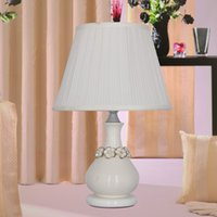 Wholesale Modern Simple Guard Table Lamps Living Room Bedroom Hotel lamp Bedside Light Study Reading Desk Lamp V E27 warm white Light Body