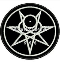 aleister crowley - MARK OF THE BEAST ALEISTER CROWLEY Uniform Animate Movie Embroidered LOGO Iron On Patch Goth Punk Rock