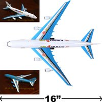 Wholesale A380 BIG PULL CORD COMMERCIAL AIRPLANE PLANE ASSEMBLE FRICTION WIND UP TOY
