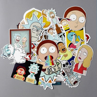 Wholesale 35Pcs American Drama Rick and Morty Funny Sticker Decal For Car Laptop Bicycle Motorcycle Notebook Waterproof Stickers