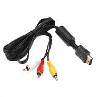 Wholesale 30 Pieces FT M Audio Video AV Cable to RCA For SONY ForPS2 For PS3 For PlayStation SYSTEM