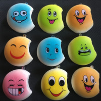Universal Lanyard > 6 years old 30PCS New 4CM Kawaii Expression Face Squishy Bread Miniature Decoration Soft Buns Scented Phone Straps Squishy Key Chains